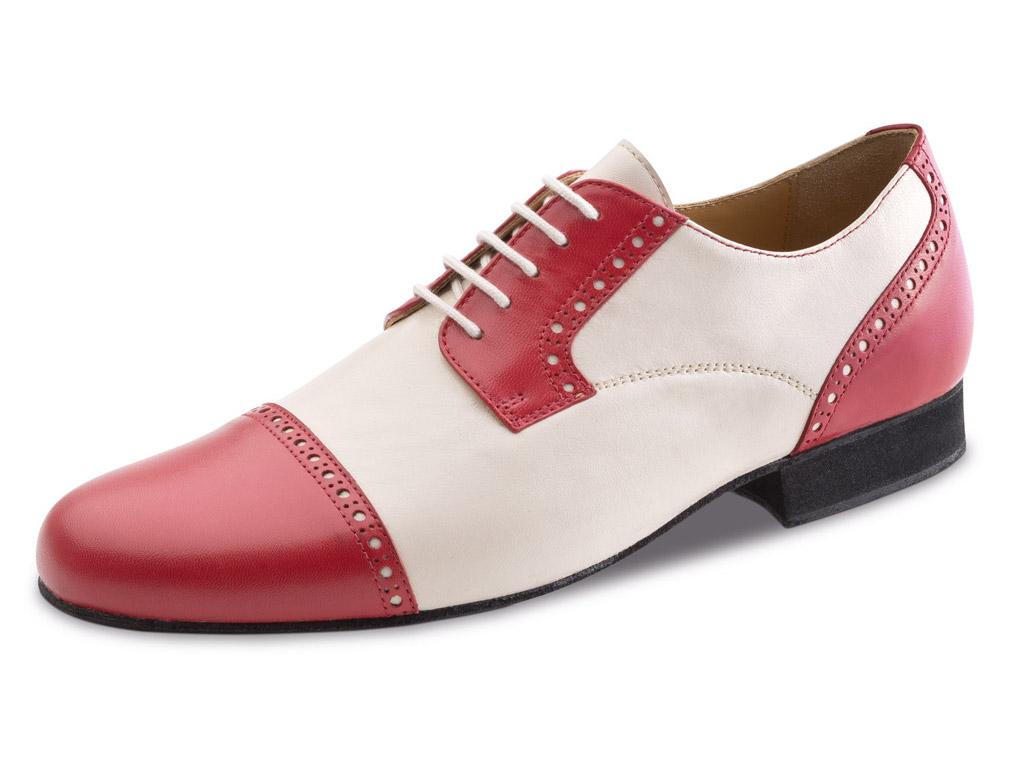 Tanzschuh Herren Standard 28051 Rot Creme
