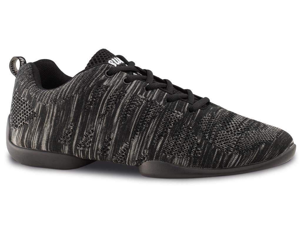 Tanzsneaker schwarz grau